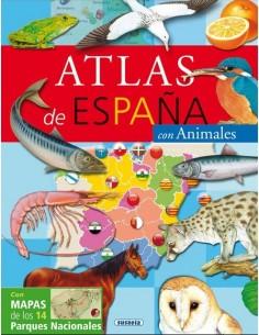 Atlas de España con animales